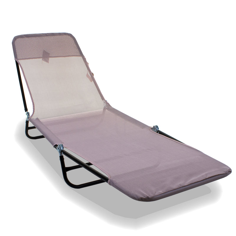 Go Flat Sun Lounger - Cream Blush