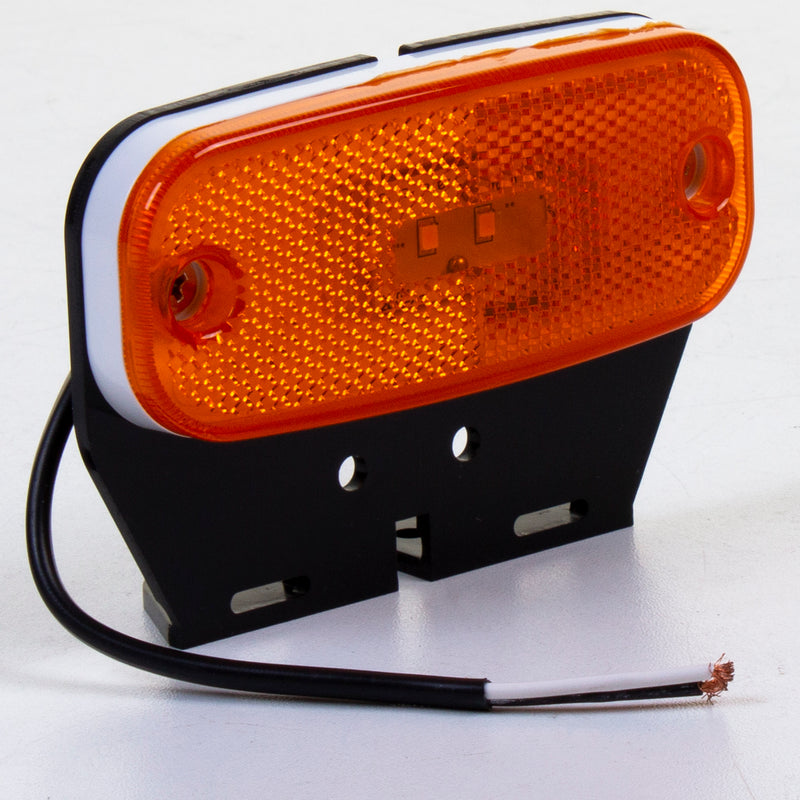 LED Amber Side Marker Light with Bracket