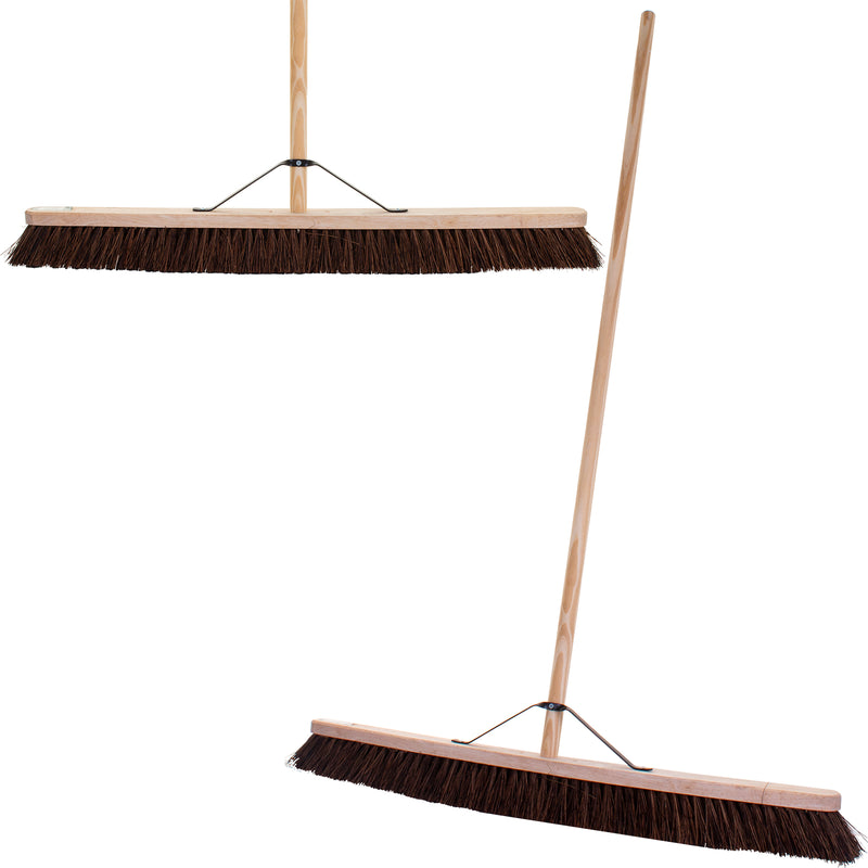 "36"" Stiff Bassine Broom with Handle"