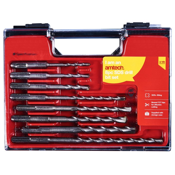 8pc Sds Drill Bit Set