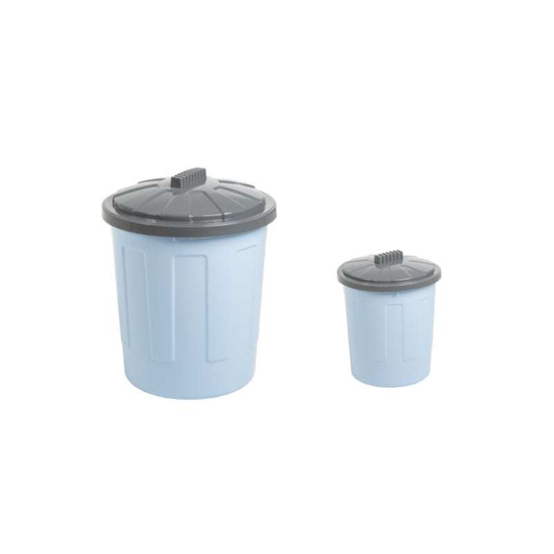8L 21L Fun Bin & Lid Cool Blue/Steel