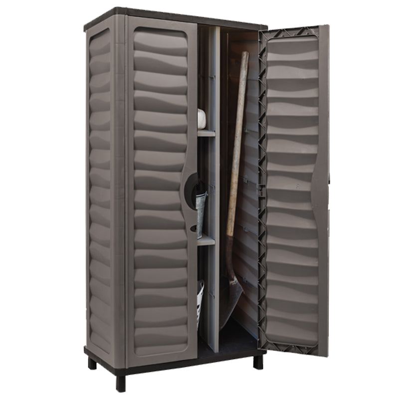 Utility Cabinet with Partition Mocha/Brown