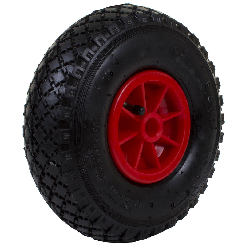 3.00 x 4 Wheel - Red Plastic