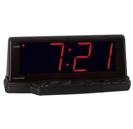 Alarm Clock Jumbo Red LED 1.8""