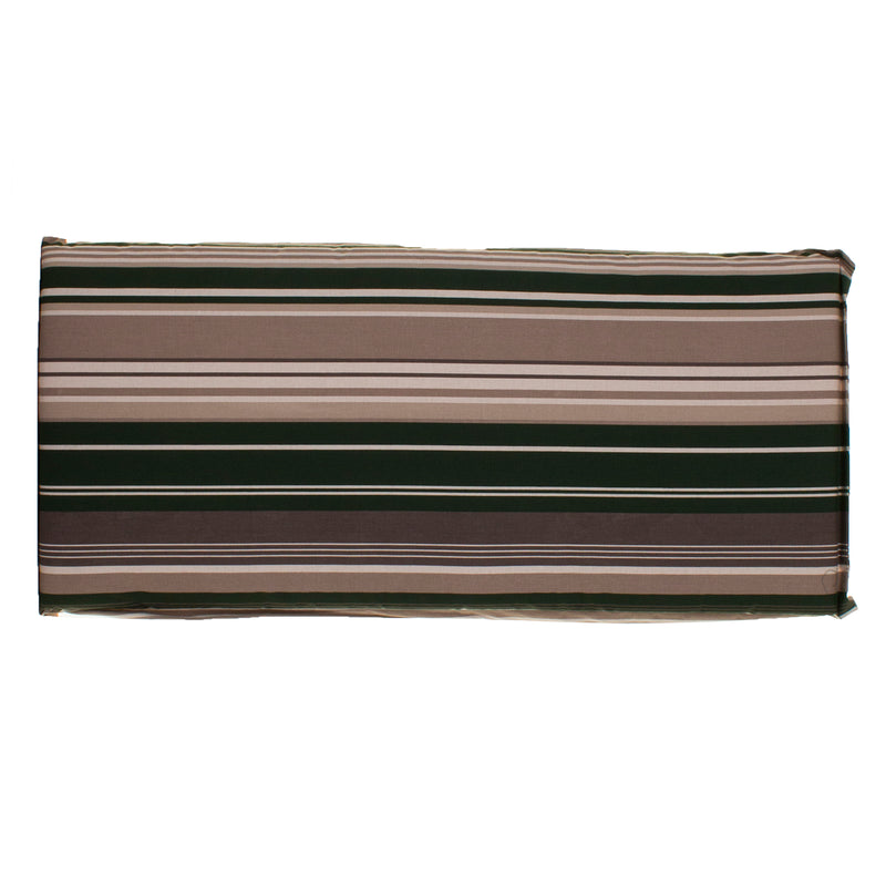 2 Seater Bench Cushion - Green Stripes
