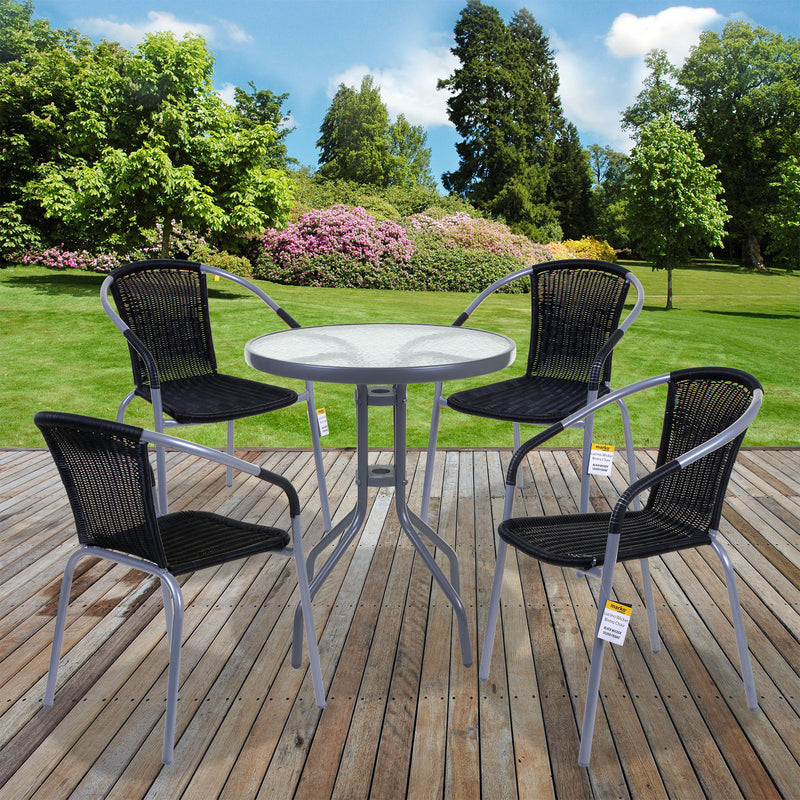3PC/5PC Lucino Wicker Bistro Sets