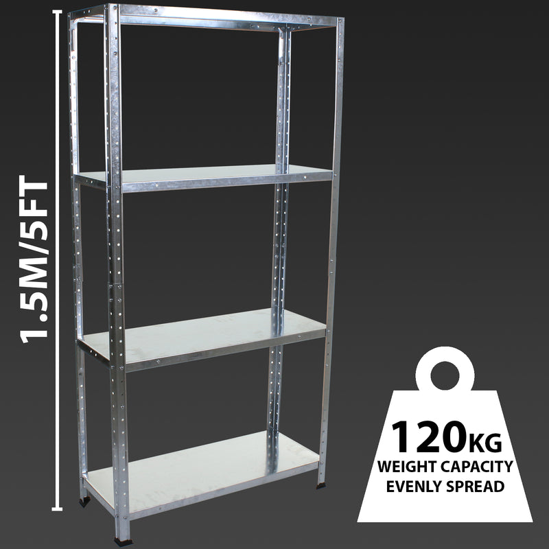 4 Tier Galvanised Shelving