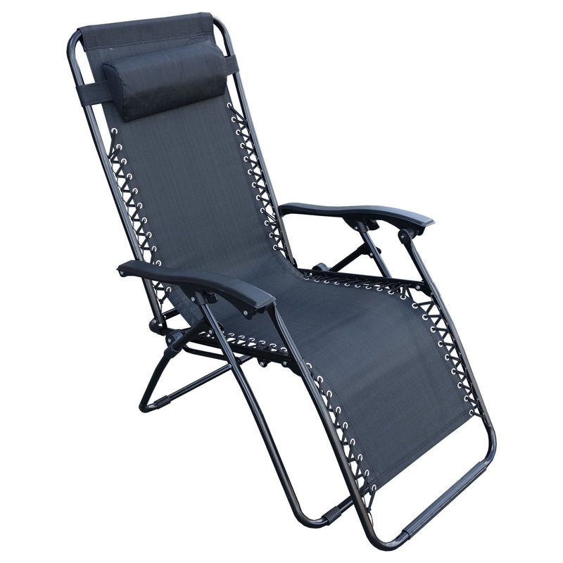 Black Reclining Sun Lounger