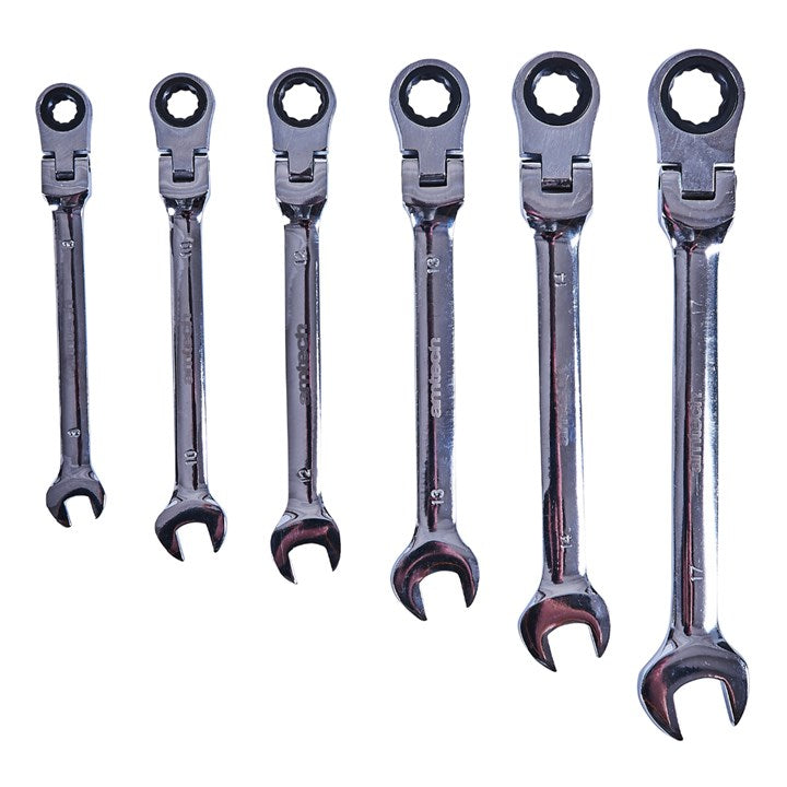 6pc Flexible Gear Spanner Set