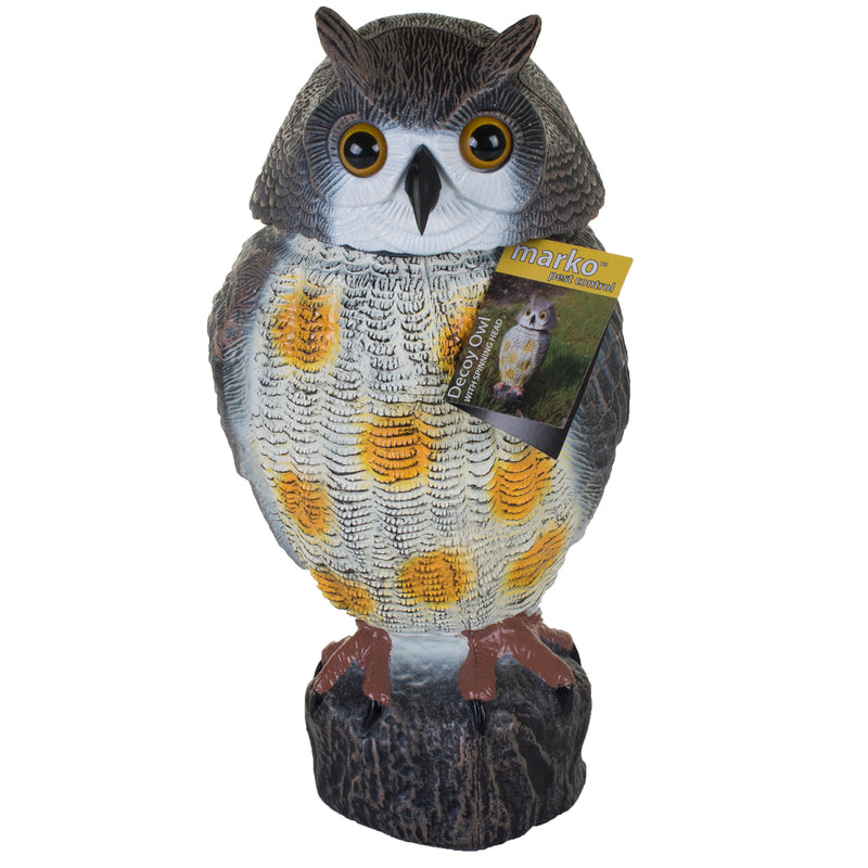Decoy Owl with Spinning Head