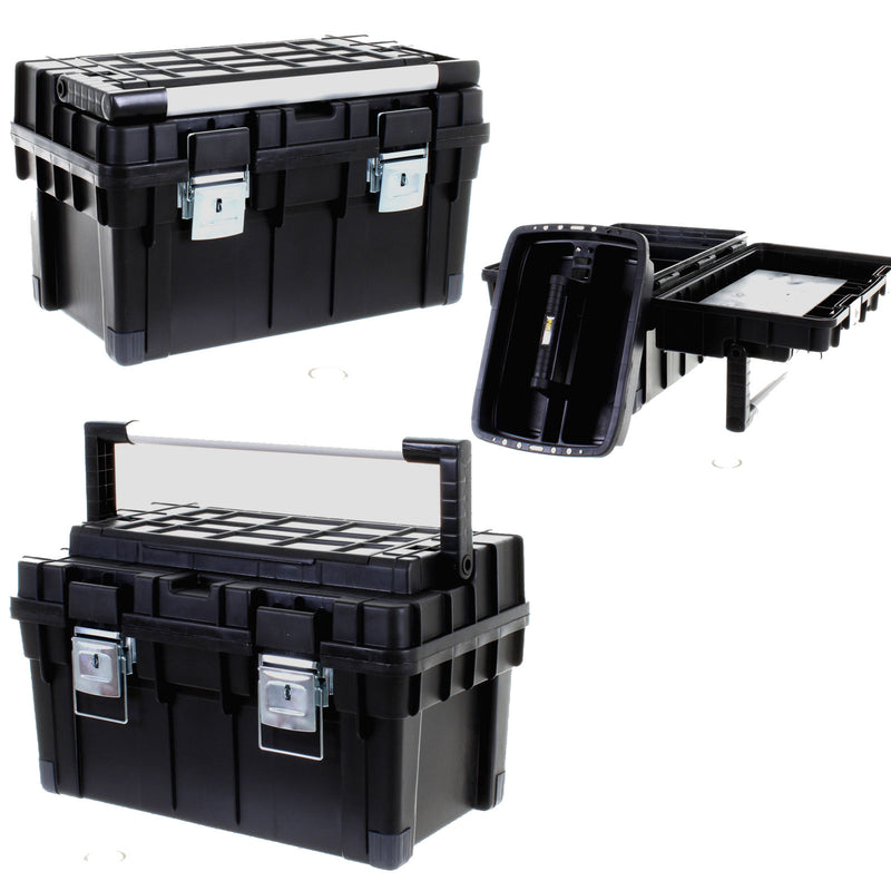 Heavy Duty Toolbox Black Lid