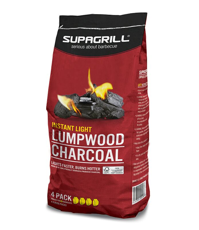 Supagrill Instant Light Charcoal 4 X 850g