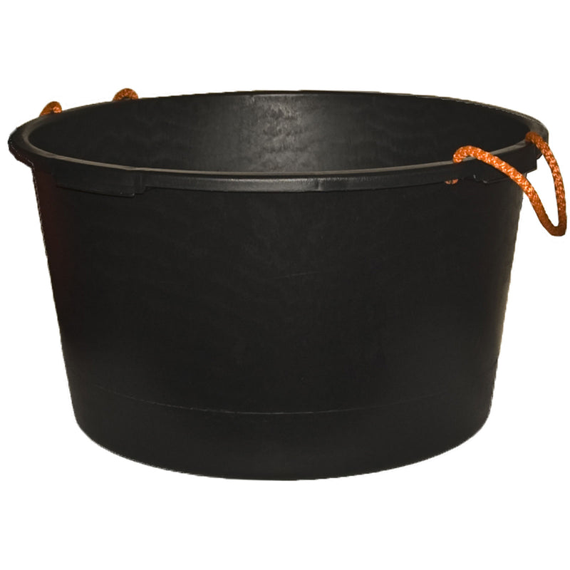65L Black Tub with Rope Handles