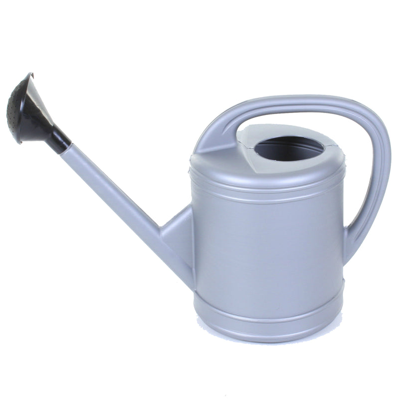 10L Silver Plastic Watering Can