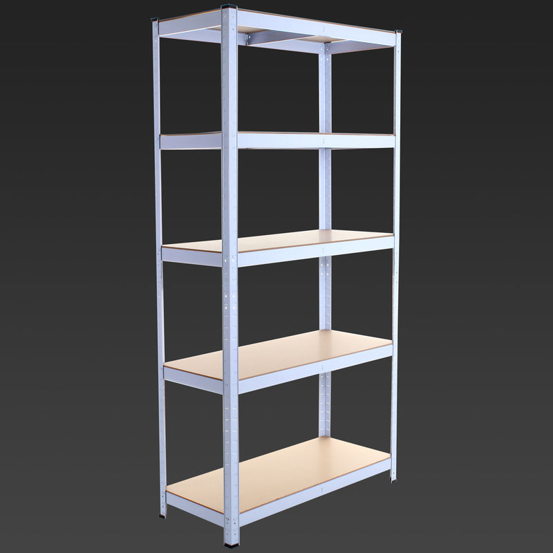 1.8M 5 Tier Metal Shelving Unit - White
