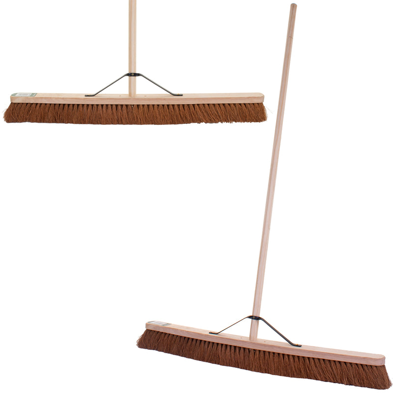 "36"" Soft Coco Broom with Handle"