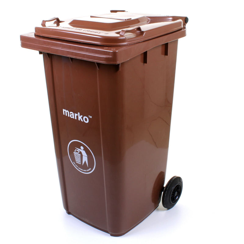 240L Wheelie Bin - Brown