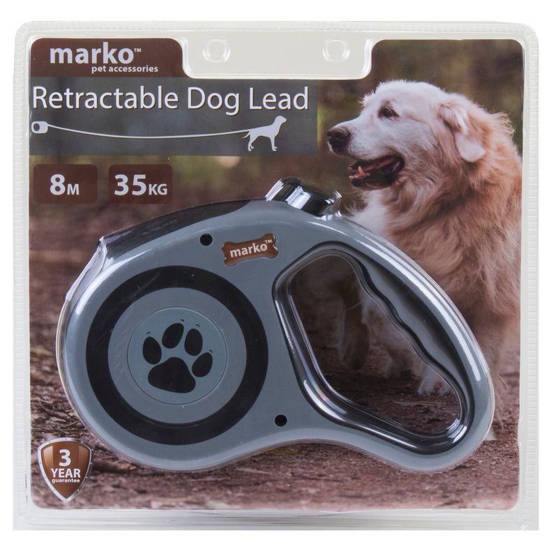 Retractable Dog Lead - Grey