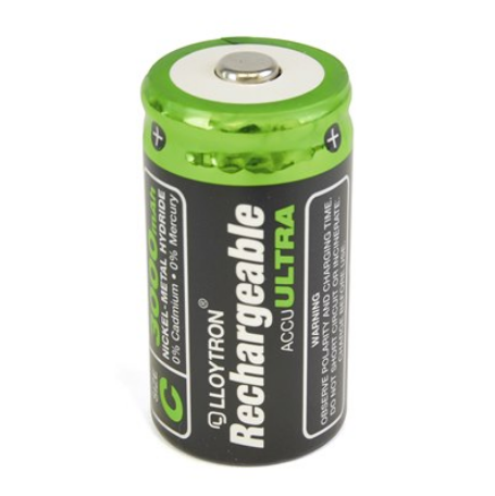 Rechargeable Batteries Size C 3000mAH 2pk