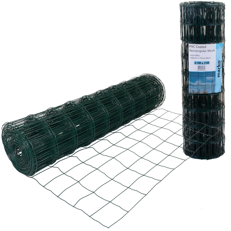 Green PVC Coated Rectangular Mesh
