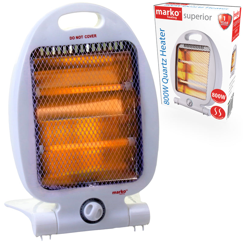 800W Portable Quartz Heater