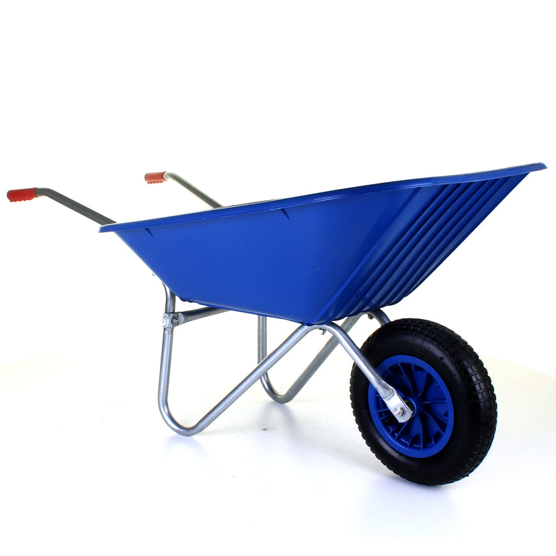 85L Plastic Wheelbarrow - Blue