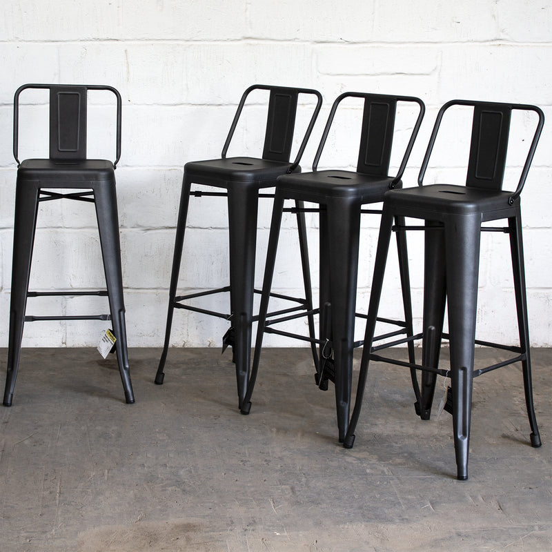 Naples Bar Stool - Onyx Matt Black