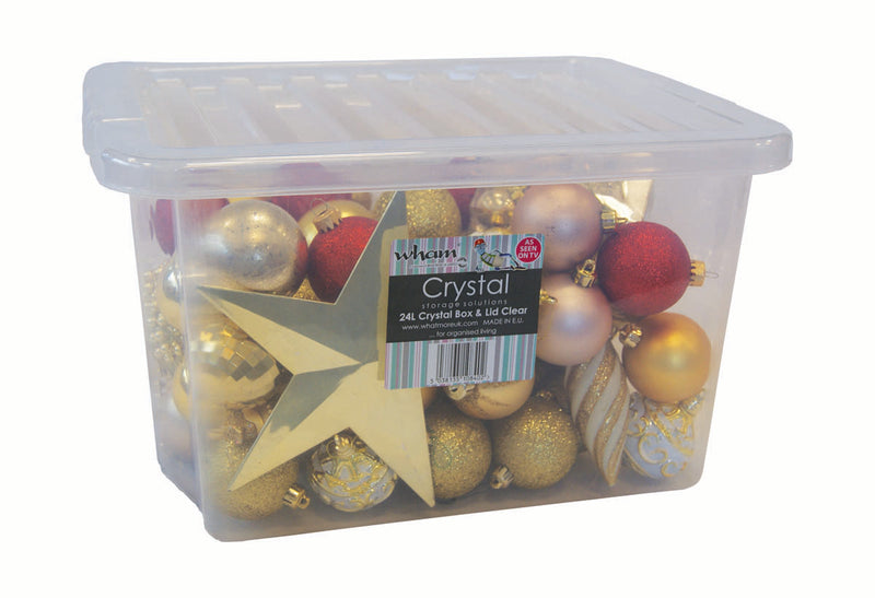 Clear Crystal Storage Boxes