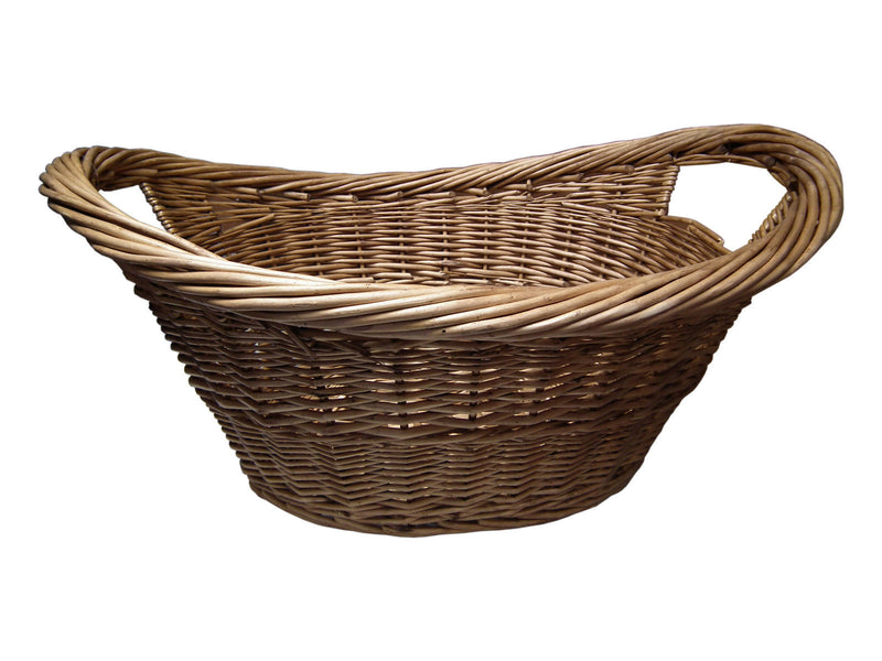 Medium Oval Wicker Log Basket