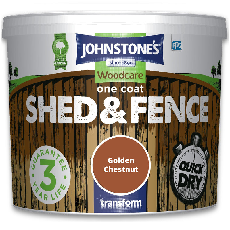 5L Shed & Fence Paint - Golden Chestnut