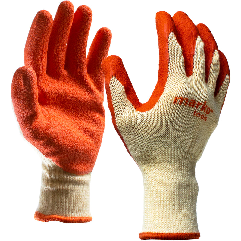 Orange Coated Work Gloves