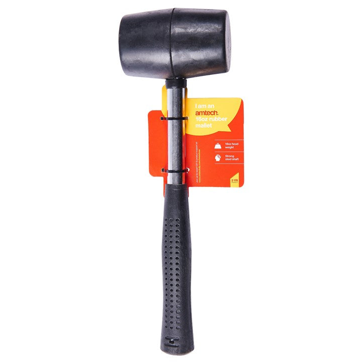 16oz Rubber Mallet Steel Shaft