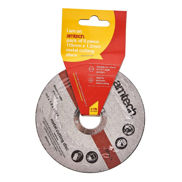 5pc 1.2mm X115mm Metal Cutting Discs