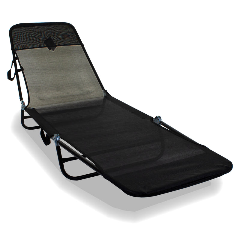Go Flat Sun Lounger - Black