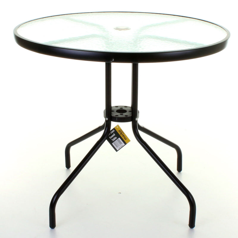 Large Round Glass Table