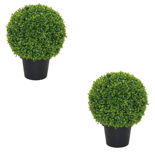 2x Topiary Tea Grass Ball Pot