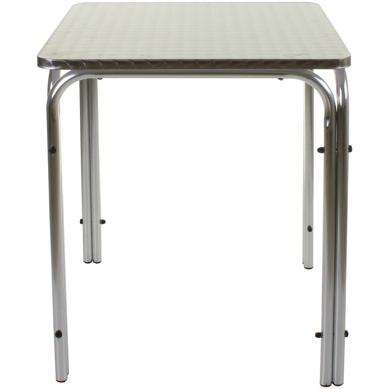 Square Stacking Chrome Table