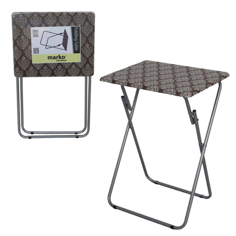 Folding Table - Brown Pattern