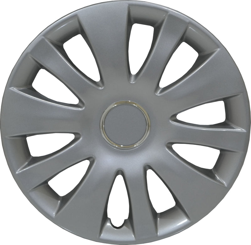 14 inch 10 Hole Silver Wheel Trims