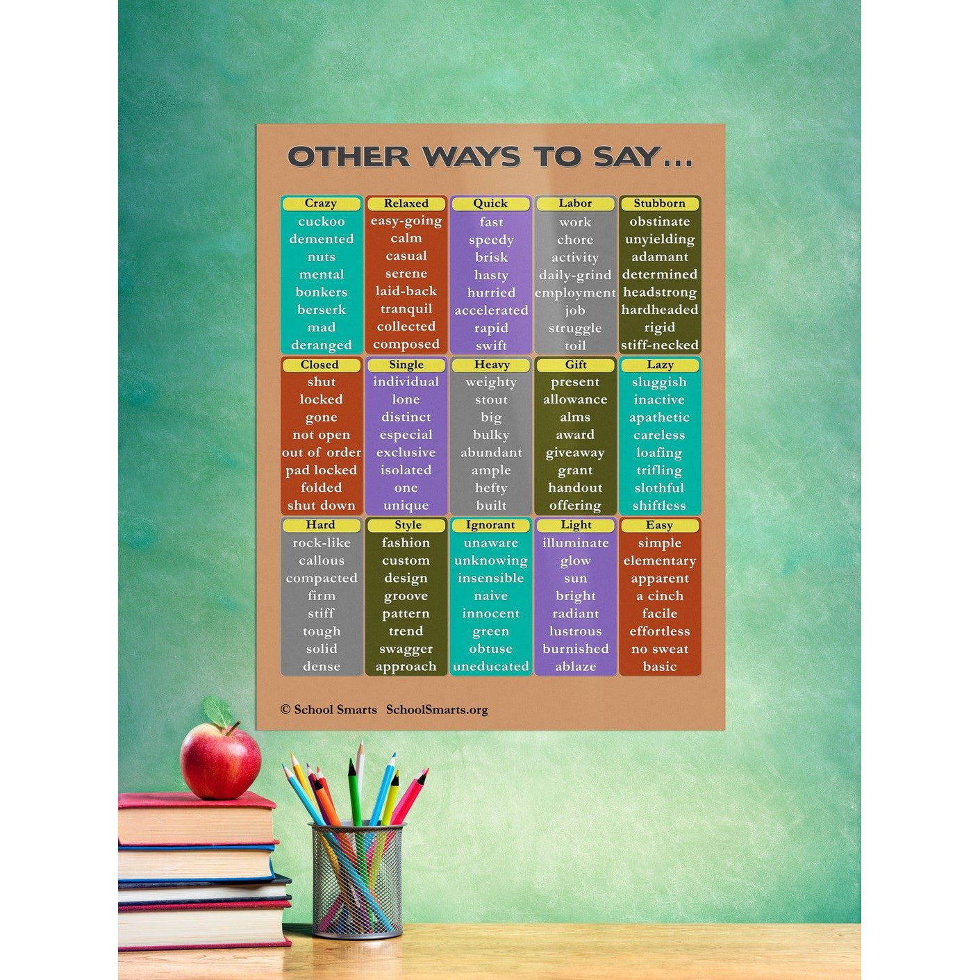 Synonyms Chart School Smarts Understand distinct meaning and enrich your. synonyms chart school smarts