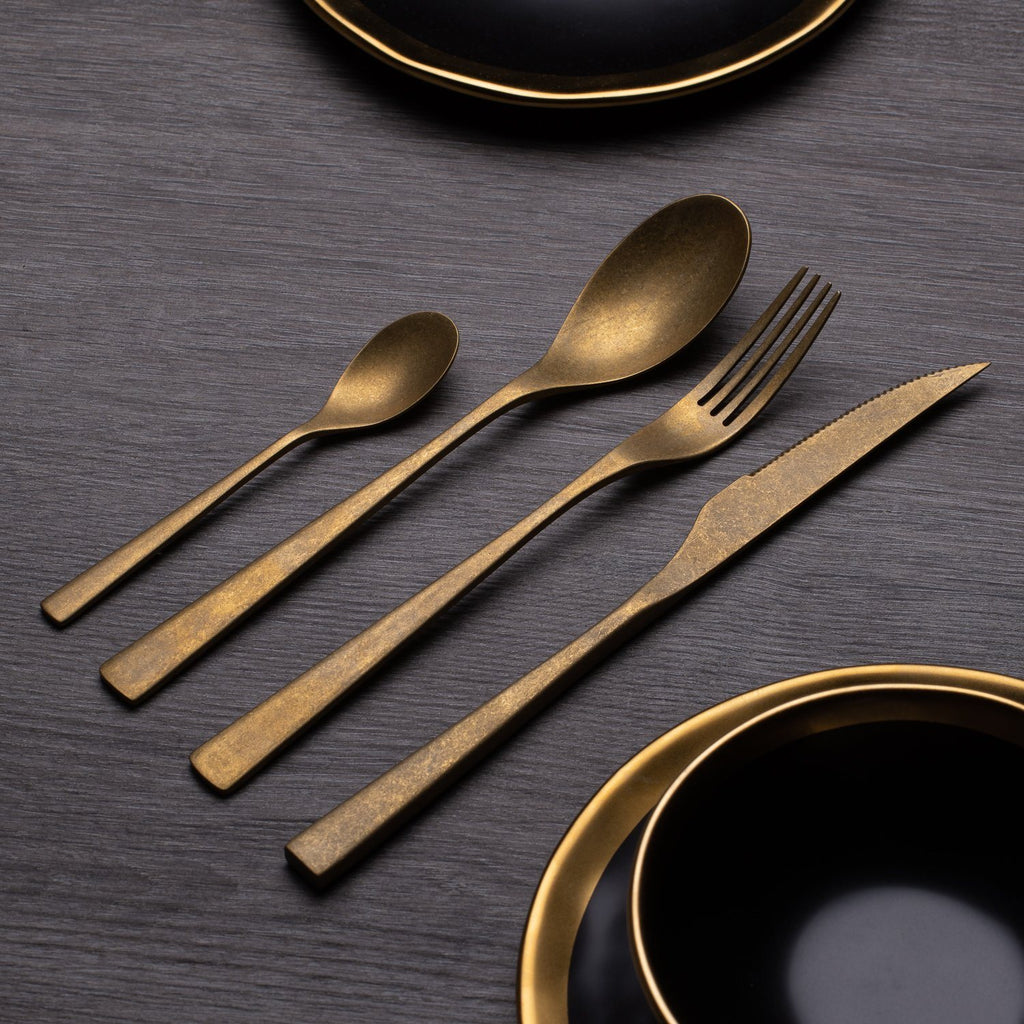 Vinte™ - Gold Vintage Cutlery Set