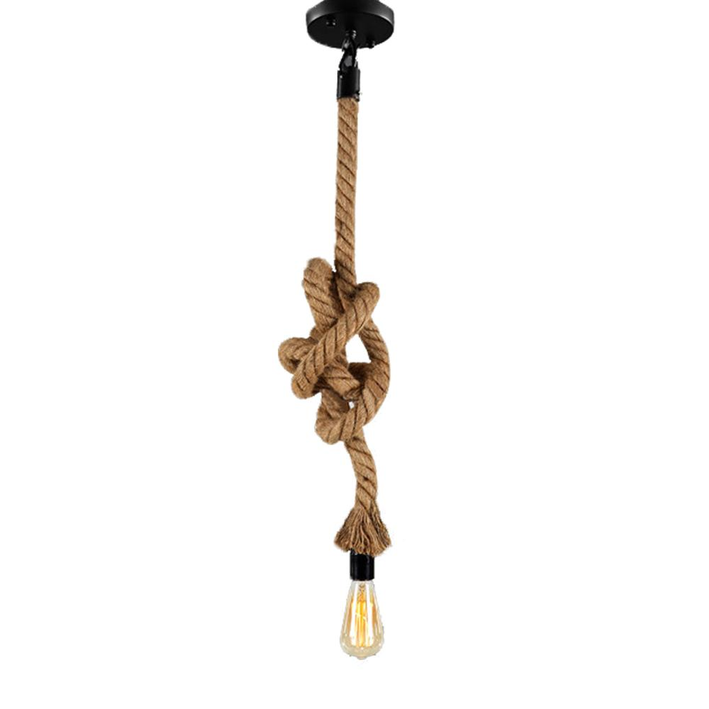 Industrial Rope Pendant Lights