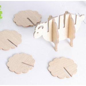 Bamboo Sheep Coaster Set (6 Pieces)