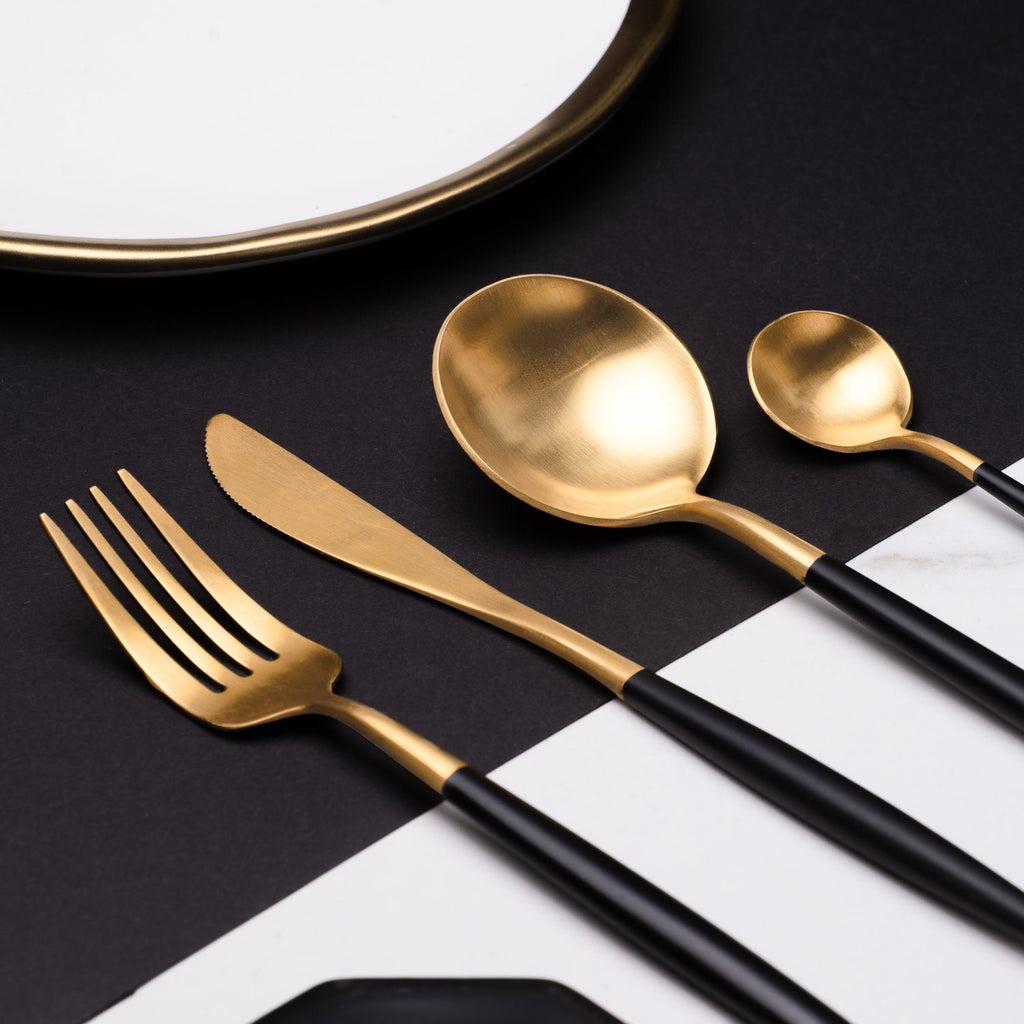 Luxe™ Black - Silverware Set