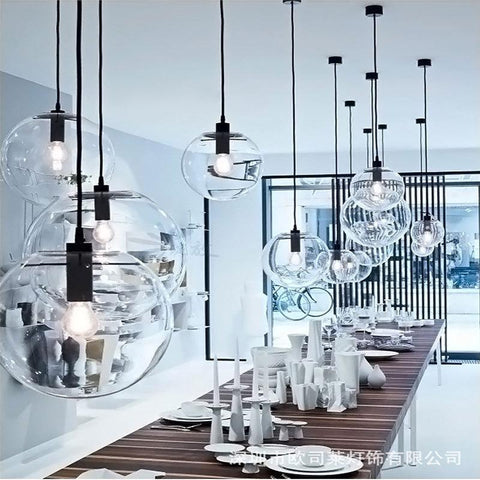 Nordic Modern Minimalist Glass Ball Pendant Lamp