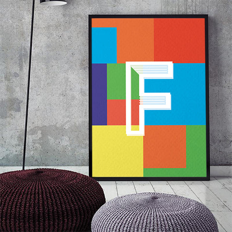 Alphabet Series - Colorful Initials