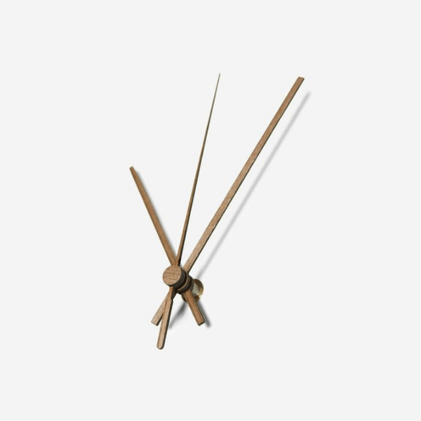 Black Square Wooden Wall Clock