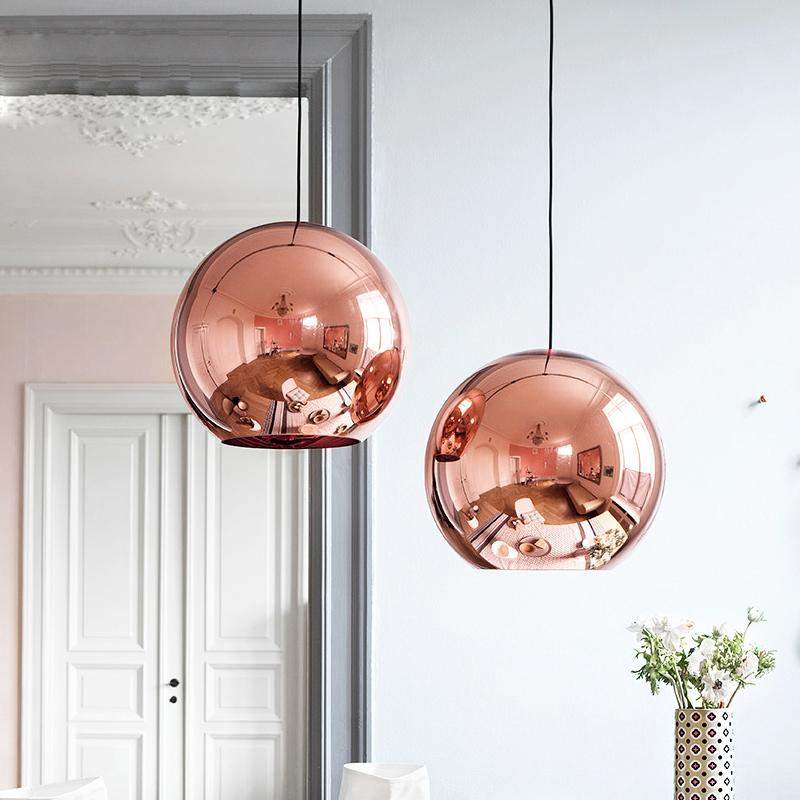 Copper globe pendant light ivy and wilde copper globe pendant light mozeypictures Images
