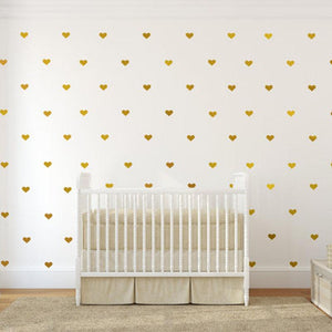 Gold Heart Wall Decals