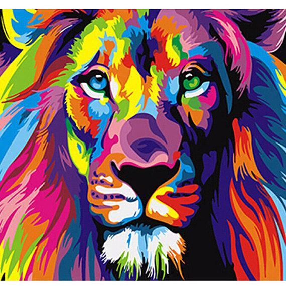 Lion Abstract Painting Diy Painting By Numbers